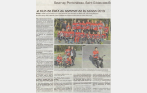 Article de presse saison 2018